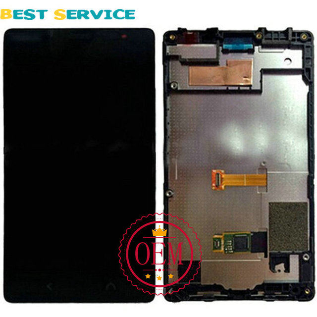 1 unidades/lotes novo para nokia lumia x2 display lcd + touch screen digitador assembléia com frame preto + ferramentas frete grátis
