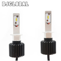 BJGLOBAL K6 ZES Chip H1 LED Car Headlight Kits 36W 6400LM Far Near Auto Driving Bulbs