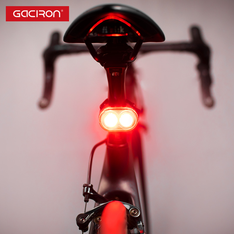 GACIRON 60 Lumen Intelligente di Sicurezza Avvertimento Coda Posteriore Della luce Della Bici di Coda lampada Impermeabile Led Usb Ricaricabile Mountain Bike Ciclismo luce