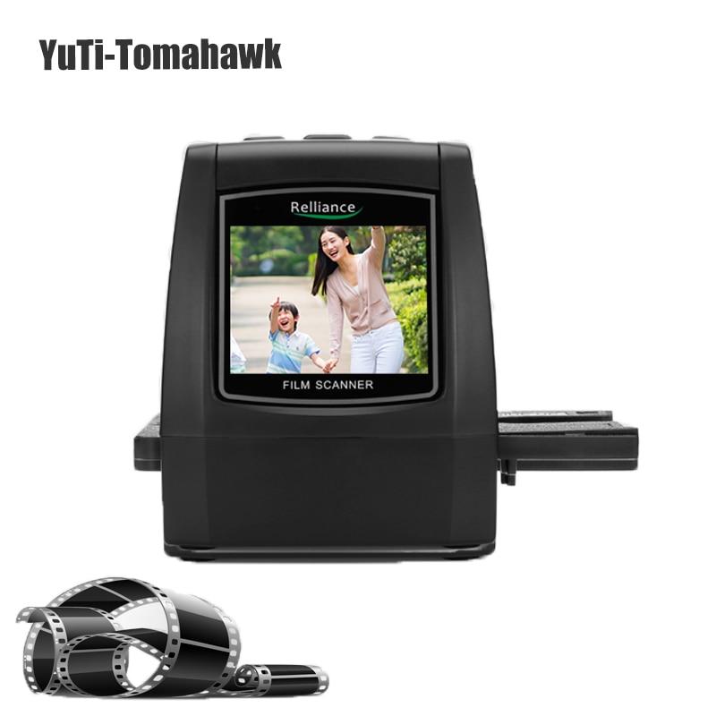 Relliance EC018 Film Scanner Haute-résolution Film Scanner de Diapositives CMOS 35mm, 110/135/126KPK/Super 8 films USB 2.4 TFT LCD Noir