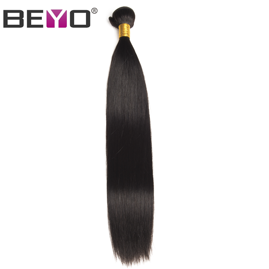 Raw Indian Hair Straight Hair Bundles Human Hair Extension Beyo Hair Weave Bundles Non-Remy Natural Color 1 Piece Free Shipping