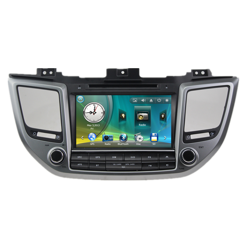 8 Car font b Radio b font DVD GPS Navigation Central Multimedia for Hyundai IX35 Tucson