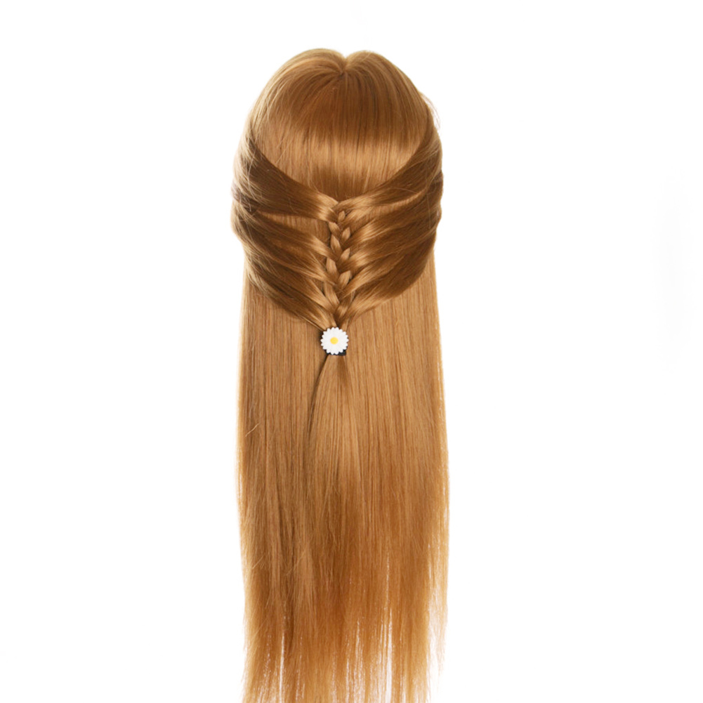 Hairdressing Dolls Head Wig Long Hair Practice Training Professional Salon Styling KG66