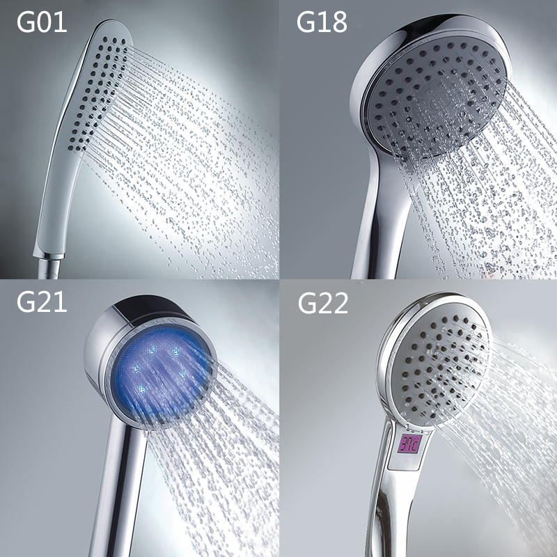 Gappo Bathroom Hand Shower Bath Shower Shower Massage Rainfall SPA Water Hand Shower Head Chrome Water Save Sauna Mixer Tap G01