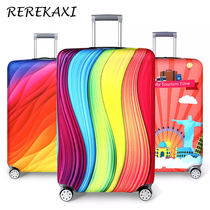 REREKAXI Thickening Elastic Cloth Suitcase Protective Cover,18-32 Inch Trolley Case Dust Cover,Travel Accessories