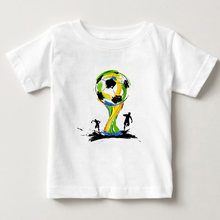 Спортивная футболка для мальчиков с принтом в виде футбола летняя