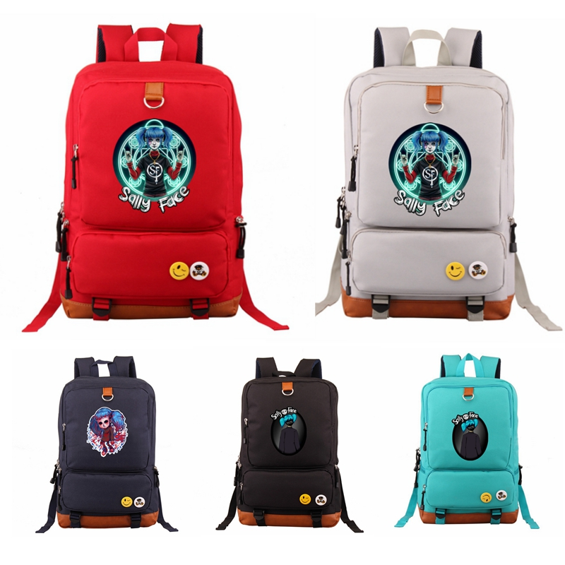 Sally Face Hot Game Backpack School Bag for Boys Girls Teenagers Casual Shoulder Bag Students Travel Backpack  Laptop BagsSally Face Hot Game Backpack School Bag for Boys Girls Teenagers Casual Shoulder Bag Students Travel Backpack  Laptop Bags