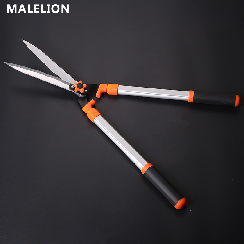 MALELION September New Garden Tools Hot Sale Telescopic Extension Alloy Lawn Shears Green Hedge Fence Scissors Garden Hand Tools цены