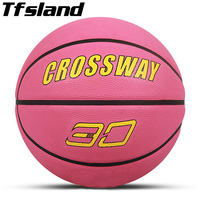 Maat 6 Vrouwen Basketbal Spel Rubber slip Ball Lederen Outdoor Slijtvaste Sport Basketbal Indoor Training Gym Basketbal