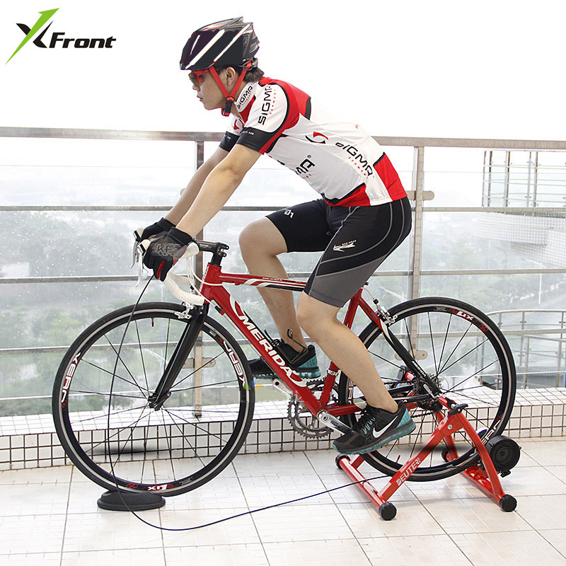New Road & Mountain Bike Cycling Rider Bicycle Training Bench Indoor Riding Training Reluctance power Wire Control mute platform