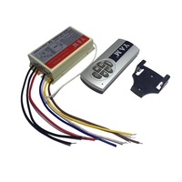 4 Ways Wireless Light ON OFF 220V Digital Remote Control Switch Transmitter HT797