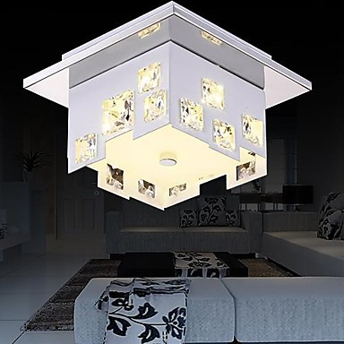 LED Modern Crystal Ceiling Lights Lamp With 1 Light For Living Room Home Decoration  Lustre De Cristal Free Shipping free shipping remote control colorful modern minimalist led pyramid light of decoration led night lamp for christmas gifts