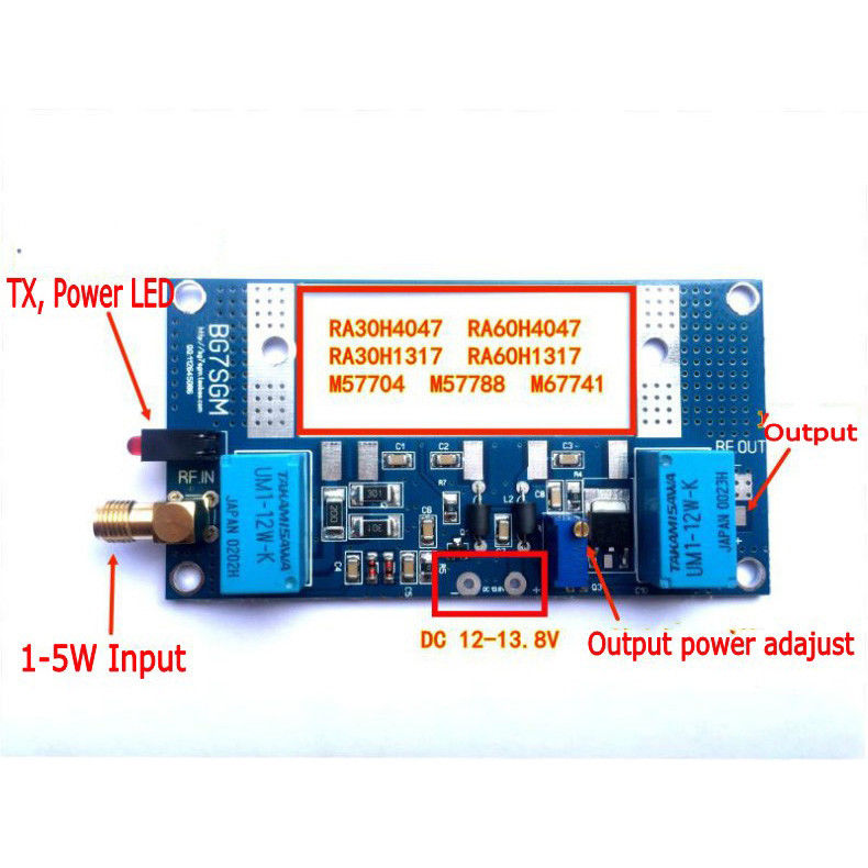 Image 2 - DYKB Radio RF Power Amplifier Board Transceiver conversion max 70W for RA30H4047M RA60H4047M Ham VHF walkie talkieReplacement Parts & Accessories   -