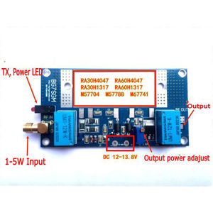 Image 2 - جهاز إرسال واستقبال لاسلكي من DYKB مزود بمضخم طاقة يعمل بالترددات اللاسلكية بقدرة 70 واط كحد أقصى لـ RA30H4047M RA60H4047M Ham VHF جهاز اتصال لاسلكي