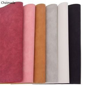 Chzimade 21x29cm A4 Faux Suede PU Fabric For Garment Multicolor Waterproof Synthetic Leather Fabric DIY Sewing Material(China)