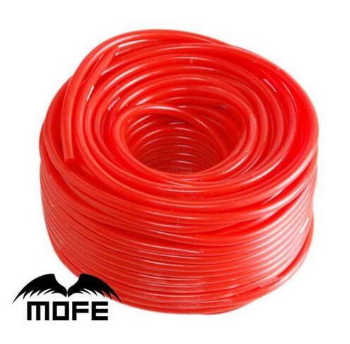 7.17 Mofe czerwony/niebieski/czarny wzmocniony silikonowy wąż ssawny rura silikonowa do samochodu 5 metrów 3mm/4mm/6mm/8mm