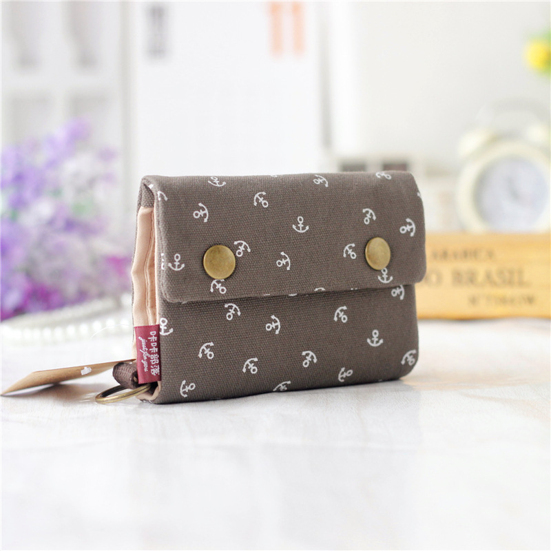 Canvas floral printing women credit card ID holder bags business ...