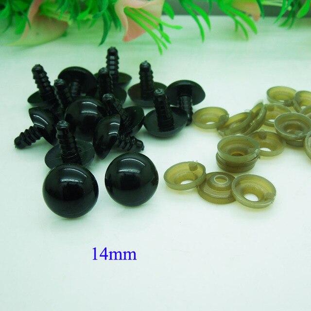 5-24mm Black Plastic Safety Eyes Handmade Dolls Accessories for Amigurumi or crochet Bear doll Animal Puppet Making