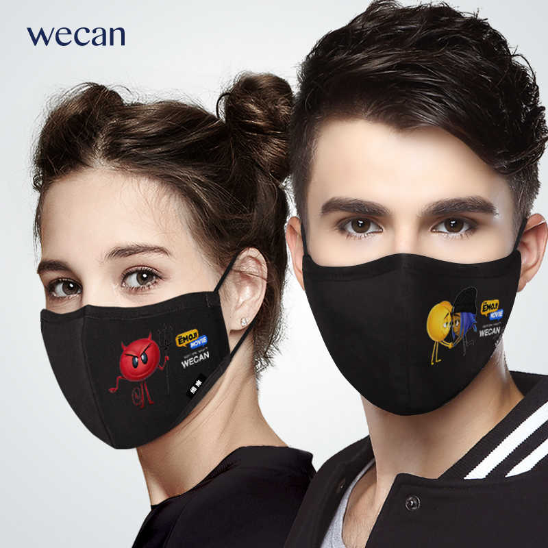 Cycling Anti Fashion Unisex Fog Mouth Face Mask Cotton Wecan