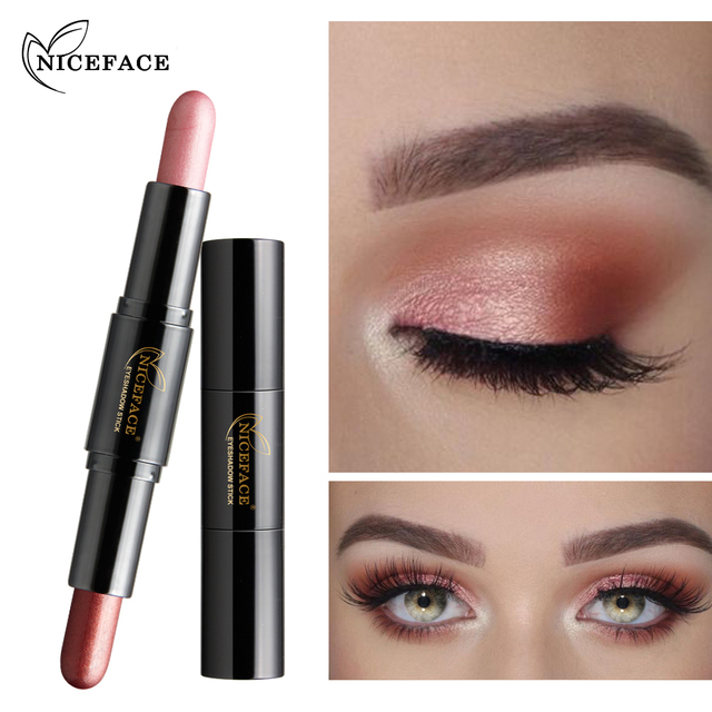 8 Types Niceface Double Ended Makeup Gold Glitter Eye Shadow Stick
