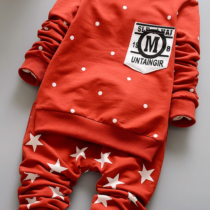New Baby Sets Star Cotton Suits 2016 Infant Outerwear Spring Autumn Boys Clothes Pants Hooded Suit Hot Dot Tops Baby Clothing (11)