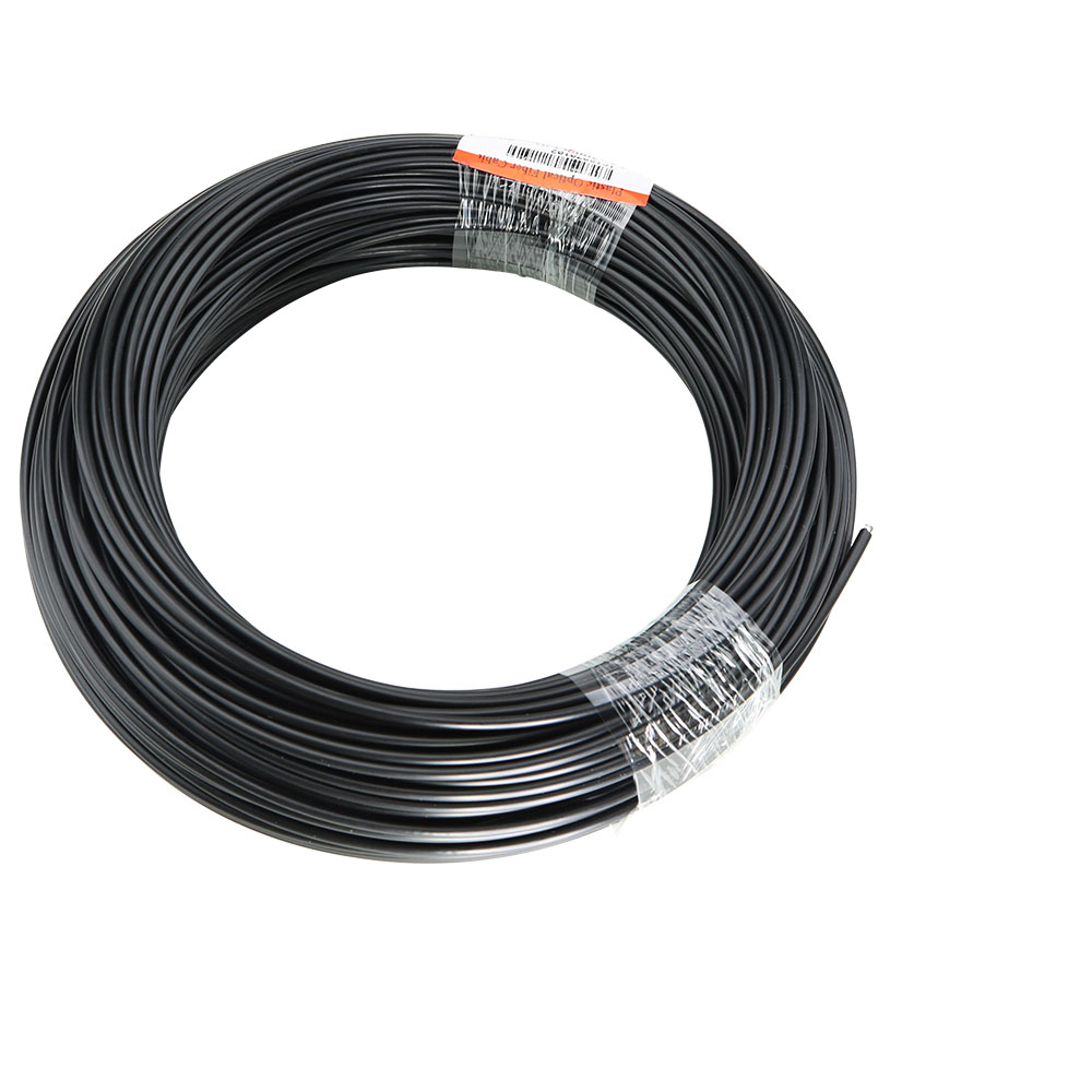50M/roll Solid Core Fiber Optic End Glow Inner Dia 2mm/3mm Optical Fiber Cable With Black PVC Jacket For DIY Optic  Fiber Light