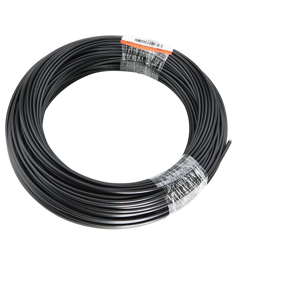 50M/roll Solid Core Fiber Optic End Glow Inner Dia 2mm/3mm Optical Fiber Cable With Black PVC Jacket For DIY Optic  Fiber Light