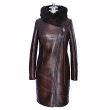 mink fur natural Genuine Leather 100% Collar Loose special offer  women winter Faux suede coat dress lengthened obesity printing