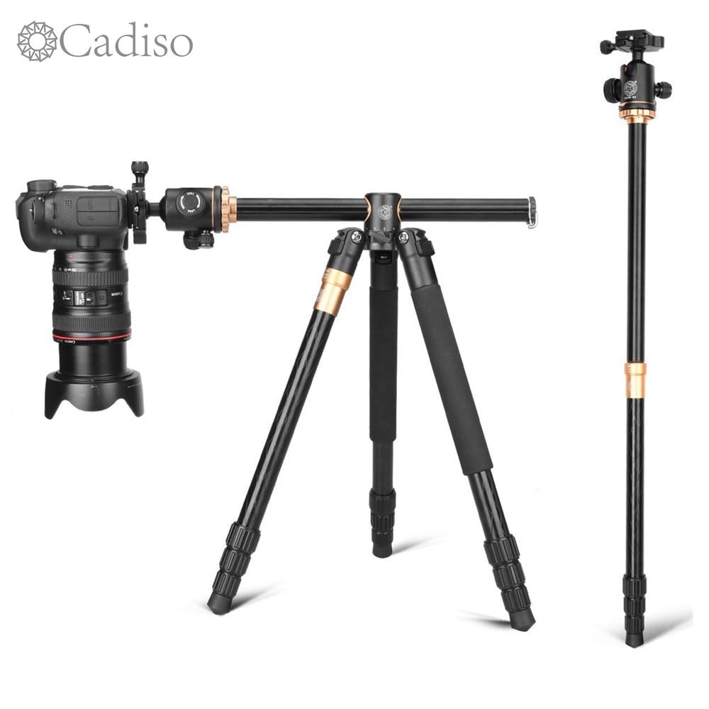 Cadiso Q999H Professional Video Camera Tripod 61 Inch Portable Compact Travel Horizontal Tripod with Ball Head