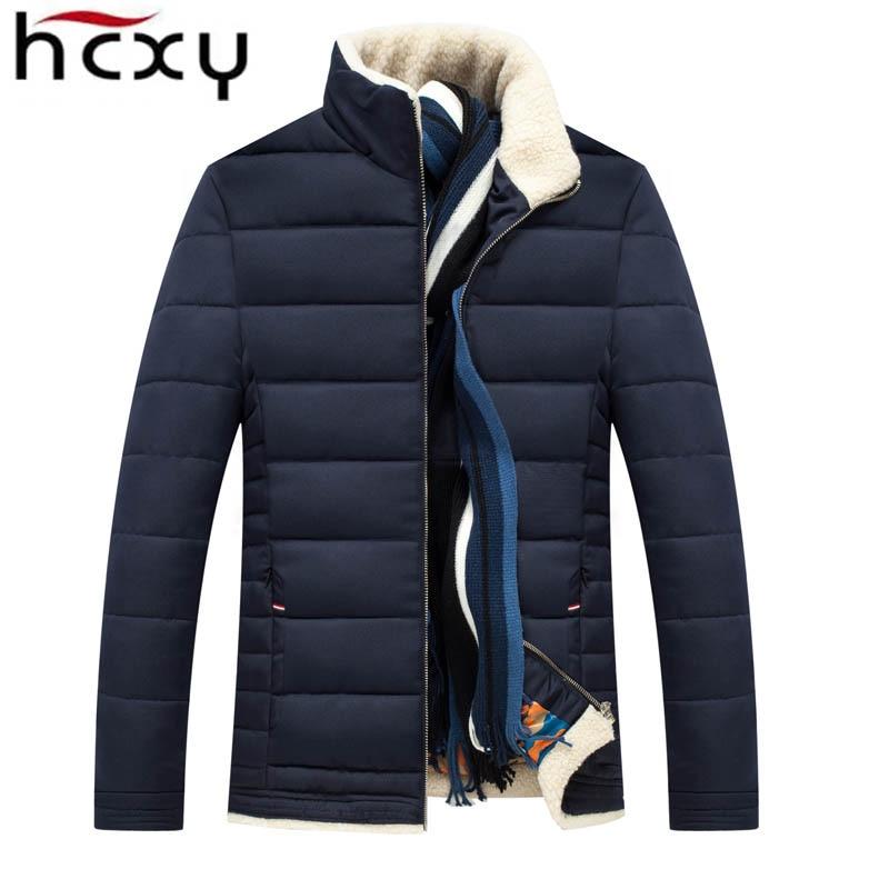 HCXY Yeni 2016 marka Sıcak Satış kış ceket erkekler sıcak aşağı ceket Ceket kapitone erkekler kış ceketler giyim fermuarlar mens ceket