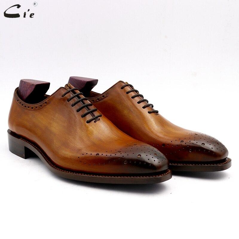 Cie hommes robe chaussures en cuir hommes de mariage hommes bureau chaussures homme wholecut véritable veau en cuir formelle bureau en cuir main N ° 13