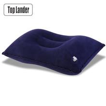 Zewnętrzna poduszka biwakowa ultralekka nadmuchiwana poduszka przenośna podróż powietrzna śpiwór obóz szyi łóżko plażowe poduszka seks poduszka tanie tanio Top Lander Materac inflatable pillow outdoor Manual 34x22