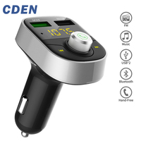 Wireless 3 0 Quick Charge In Car Bluetooth FM Transmitter Radio Adapter Car Kit MP3 Player