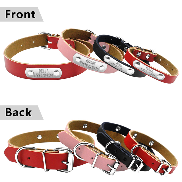 Leather Engraved Nameplate Collars