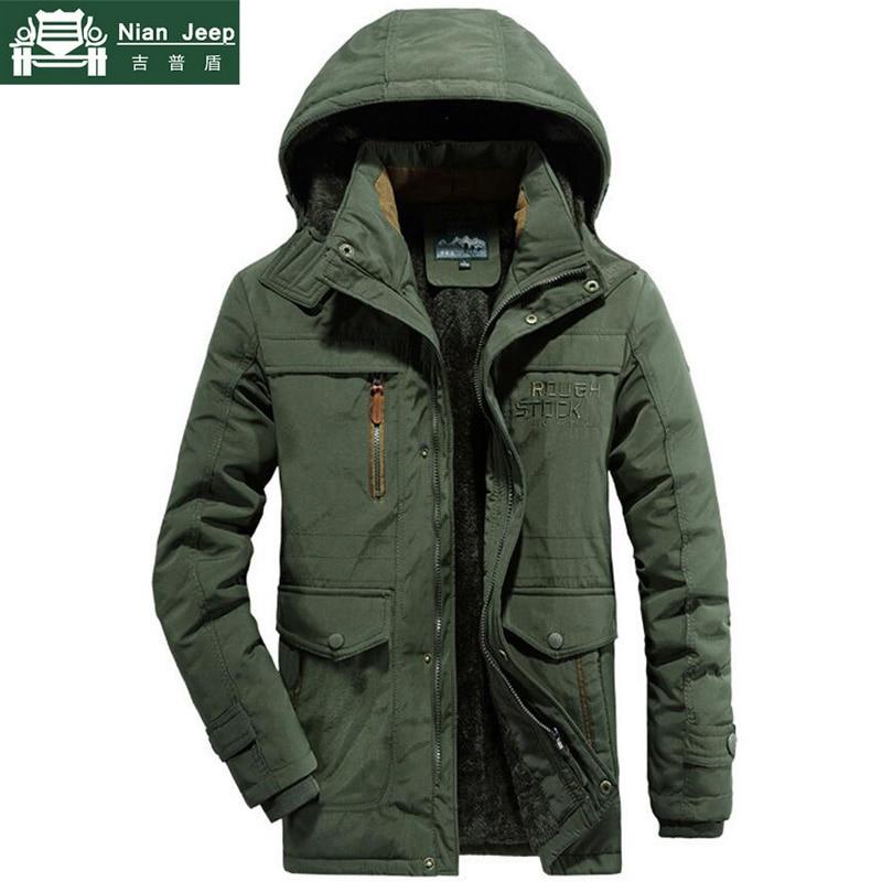 Plus Size Brand Quality Military Winter Jacket Men Windbreaker Thick Warm Wool Liner   Parka   hombre Outwear Long Coat Male L-6XL