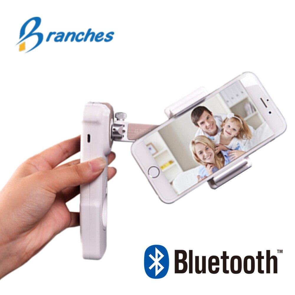 NOVO Portátil Handheld Cardan Handheld 2-Eixo estabilizador de telefone Bluetooth Telefone Sem Fio do smartphone para o iphone smartphone móvel