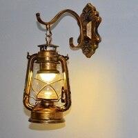Retro Lamp LED Wall Lamp Vintage Iron Kerosene Lamps E27 Loft Light Plated Indoor Lighting Home Bedroom Restaurant Deco
