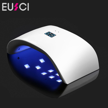 36W UV Nail Dryer Dual LED Lamp Gel Polish Curing Light Double Power 99s Digital Timer Art Tools Sun 9x Plus