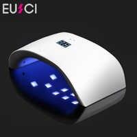 36W UV Nail Dryer Dual UV LED Nail Lamp Gel Polish Curing Light Lamp Double Power 99s Digital Timer Nail Art Tools Sun 9x Plus
