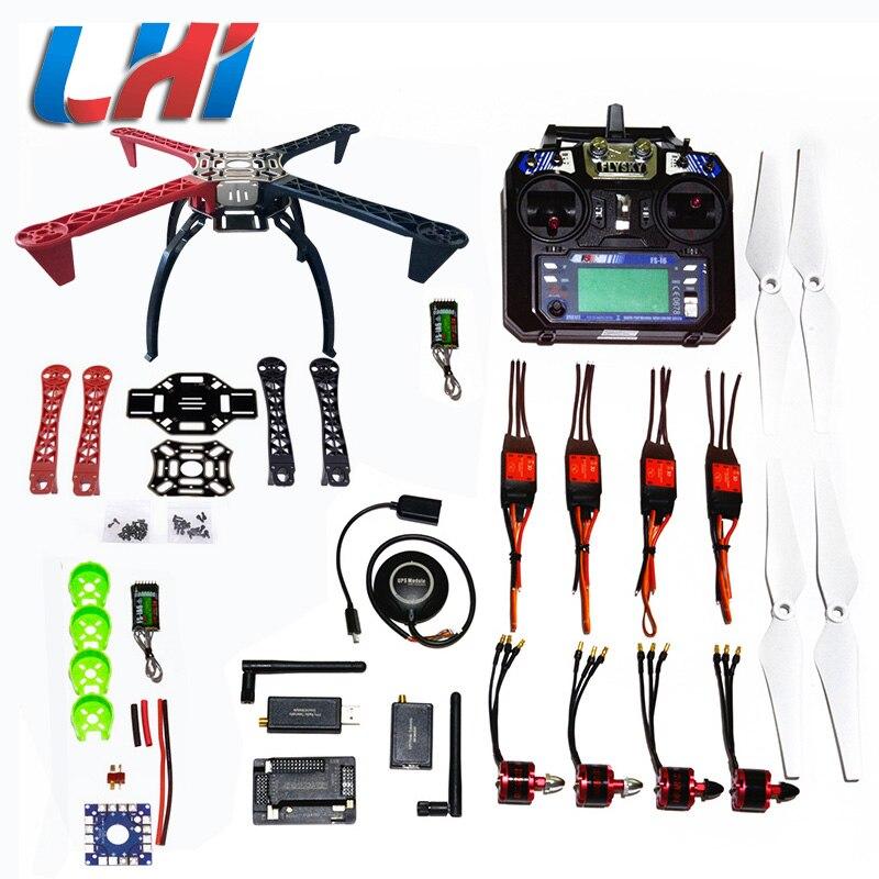 BRICOLAGE LHI F450 Quadcopter Kit APM2.8 Cadre Hélicoptère Support APM2.6 et 6 m 7 m N8M GPS moteur brushless