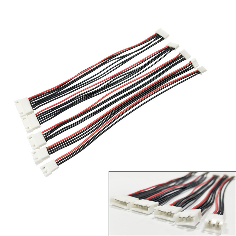 5pcs/lot JST-XH 1S 2S 3S 4S 5S <font><b>6S</b></font> 20cm 22AWG Lipo Balance Wire Extension Charged Cable Lead Cord for RC Lipo Battery charger image