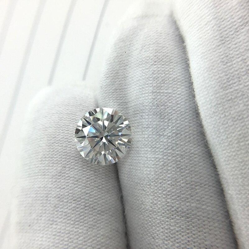 Aeaw 라운드 브릴리언트 컷 3.0ct 캐럿 9mm ef 컬러 moissanite 루스 스톤 vvs 우수 컷 그레이드 테스트 포지티브 랩 다이아몬드-에서루즈 다이아몬드&보석부터 쥬얼리 및 액세서리 의  그룹 2