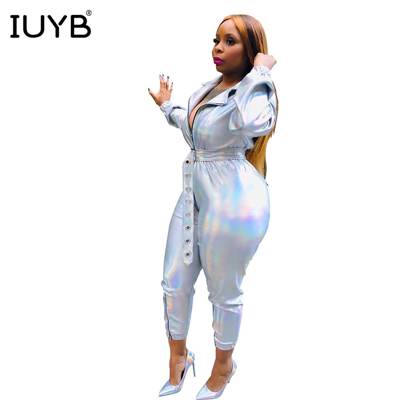 Women's Clothing Logical Iuyb Spring 2019 New Age Reduction Sexy Fashion Women Jumpsuits Solid Full Sleeve Skinny Elasticity Long Romper Mof5049
