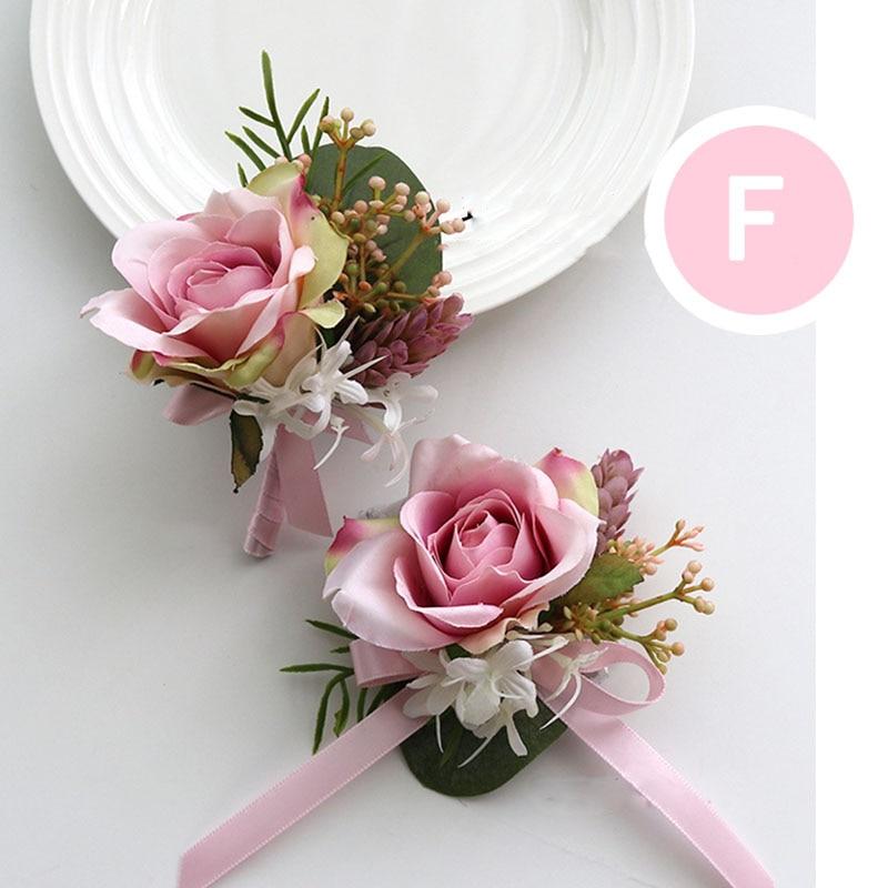 pink wrist corsage boutonniere wedding  (26)