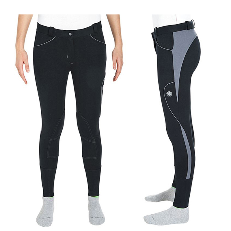 Women Equestrian Breeches Horse Riding Pants Sports Legging Trousers High Elasticity Ladies Knee Patch Jodphurs Riding Pant ...