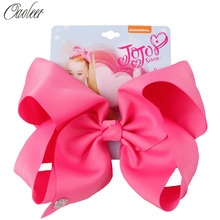 8 jojo siwa JOJO BOWS for Girls Ribbon Bow With Clips For Kids Hairpins Handmade Bowknot Headwear Hair Accessories