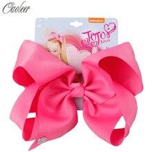 8 jojo siwa JOJO BOWS for Girls Ribbon Bow With Clips For Kids Hairpins Handmade Bowknot Girls Headwear Hair Accessories кольцо jojo 2015 sweety 10 jx0447