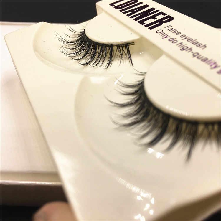 1 par de pestañas postizas negras largas naturales de visón Real, maquillaje de pestañas falsas cruzadas, herramientas de extensión de belleza