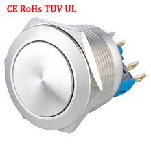 22mm Push Button Switch Momentary/Latching 1NO 1NC, Stainless Steel