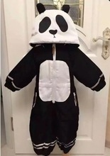 INS 2016 WINTER BABY BOY CLOTHES BABY GIRL CLOTHES BABY PANDA ROMPERS OUTWEARS THICK WARM JACKETS COAT KIKIKIDS BOBO CHOSES